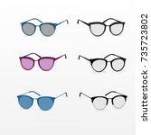 fashion eye glasses. | Shutterstock .eps vector #735723802