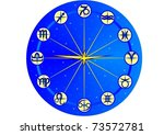 a clock face with the signs of... | Shutterstock .eps vector #73572781