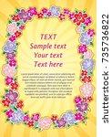 frame of flowers  flower...   Shutterstock .eps vector #735736822