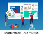 data page construction | Shutterstock .eps vector #735740755