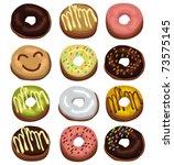 donuts | Shutterstock .eps vector #73575145