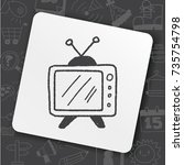 doodle tv | Shutterstock .eps vector #735754798