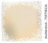 snowflake background | Shutterstock .eps vector #735758116