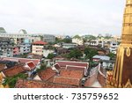 view of the building from the...   Shutterstock . vector #735759652