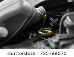 lubricate your car engine with... | Shutterstock . vector #735766072