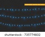christmas lights isolated... | Shutterstock .eps vector #735774832