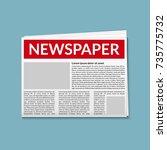 newspaper vector daily news... | Shutterstock .eps vector #735775732