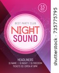 electro dance party music night ... | Shutterstock .eps vector #735775795