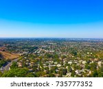 california landscape from above | Shutterstock . vector #735777352
