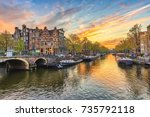 Amsterdam Sunset City Skyline...