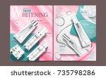 skincare magazine template ... | Shutterstock .eps vector #735798286