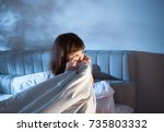 night terrors of the child.... | Shutterstock . vector #735803332