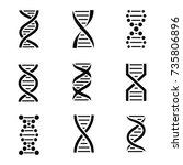 dna icon set. isolated on a... | Shutterstock .eps vector #735806896