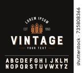 cereal vintage logo flat... | Shutterstock .eps vector #735808366