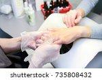 manicure in process | Shutterstock . vector #735808432