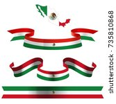 flag ribbon art design 9. | Shutterstock .eps vector #735810868