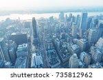 new york city   june 9  2013 ... | Shutterstock . vector #735812962