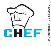 a chef's hat | Shutterstock .eps vector #735815062