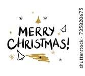 merry christmas template for...   Shutterstock .eps vector #735820675