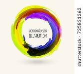 watercolor bright color texture.... | Shutterstock .eps vector #735831262