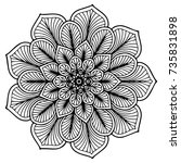 mandalas for coloring book.... | Shutterstock .eps vector #735831898