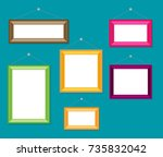 cartoon photo picture painting... | Shutterstock .eps vector #735832042