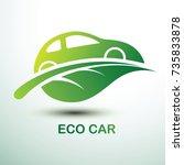 eco car concept green drive... | Shutterstock .eps vector #735833878