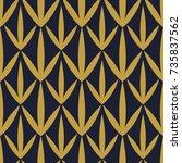 modern geometric pattern design ... | Shutterstock .eps vector #735837562