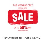 sale banner layout design | Shutterstock .eps vector #735843742