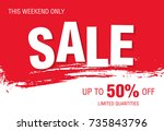 sale banner layout design | Shutterstock .eps vector #735843796