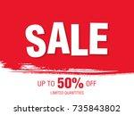 sale banner layout design | Shutterstock .eps vector #735843802