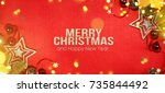 christmas holiday background.   Shutterstock . vector #735844492