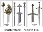 ancient europe weapon   set of...