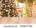 christmas holiday background... | Shutterstock . vector #735847786