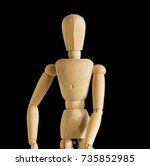 art figure on black background | Shutterstock . vector #735852985