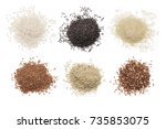Set Of Various Rice Isolated O...