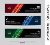 design of flyers  banners ... | Shutterstock .eps vector #735853918