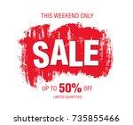 sale banner layout design   Shutterstock .eps vector #735855466