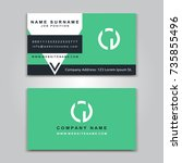 business vector card creative... | Shutterstock .eps vector #735855496