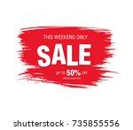 sale banner layout design | Shutterstock .eps vector #735855556