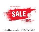 sale banner layout design   Shutterstock .eps vector #735855562