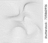 distorted wave monochrome...   Shutterstock .eps vector #735860956