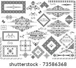 vintage frames and decorative... | Shutterstock .eps vector #73586368
