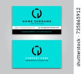 business vector card creative... | Shutterstock .eps vector #735865912