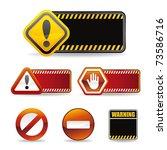 set of warning sign | Shutterstock .eps vector #73586716