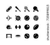 miscellaneous icons of indoor... | Shutterstock .eps vector #735899815