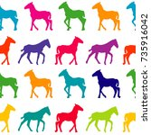 colorful seamless background... | Shutterstock . vector #735916042