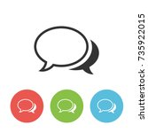 chat vector outline single icon ...