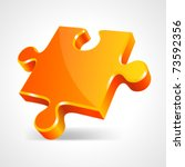 Orange Puzzle 3d Pie Vector...