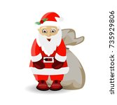 new year's and christmas. santa ...   Shutterstock .eps vector #735929806